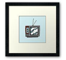 Retro Television Framed Print