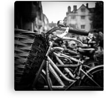 Bicycle Bell and Basket-Cambridge England Canvas Print