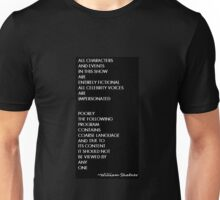South Park as done by Shatner Unisex T-Shirt