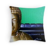 automatic stop Throw Pillow