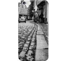 Wet Cobbles- Norwich in the rain iPhone Case/Skin