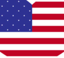 American Flag Heart Sticker