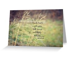 Emily Bronte Girl Free Greeting Card