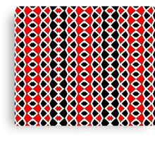 Decorative Red Black and White Pattern Canvas Print