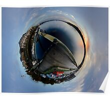 Foyle Marina at Dawn, Stereographic Poster