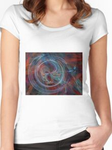 The Spark of Life - Abstract Art Women's Fitted Scoop T-Shirt