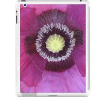 Purple poppy rectangle iPad Case/Skin