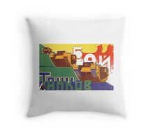 Russian Board Game 5 Throw Pillow