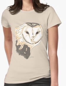 Spirit of Owl - Shamanic Art Womens Fitted T-Shirt