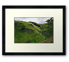 Cave Dale from Peveril Castle Framed Print