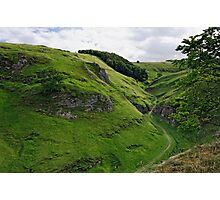 Cave Dale from Peveril Castle Photographic Print