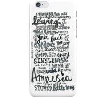 Amnesia - 5SOS iPhone Case/Skin