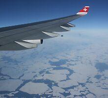 Swiss LX40 Over Baffin Bay by John Michael Sudol