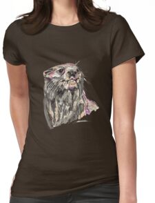 Spirit of Otter - Shamanic Art Womens Fitted T-Shirt