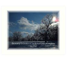 Winter  frozen plain Art Print