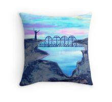 Bridge to Unbelievers by Gretchen Smith Throw Pillow
