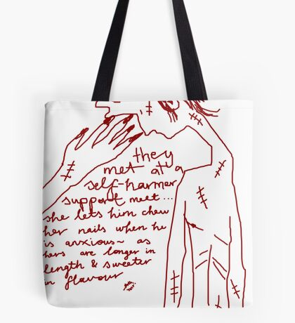 'Self-Harmer Support' Tote Bag