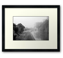 Foggy Canal At Shobnall Framed Print