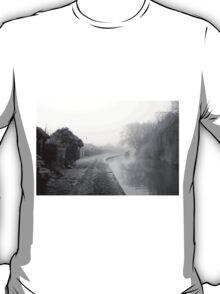 Foggy Canal At Shobnall T-Shirt