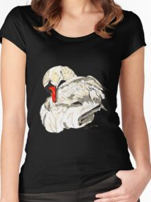 Spirit of Swan - Shamanic Art Women's Fitted Scoop T-Shirt