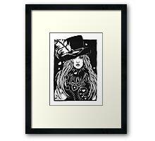 Blacklights : Stevie Framed Print