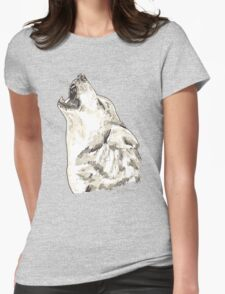 Spirit of Wolf - Shamanic Art Womens Fitted T-Shirt