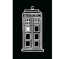 Black and white TARDIS Photographic Print