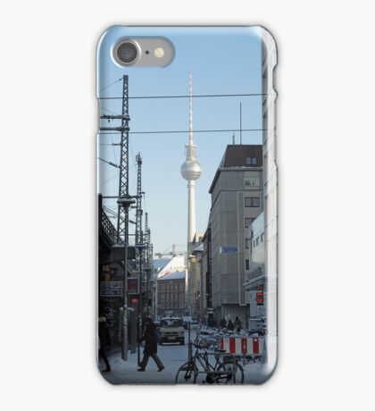 Berlin Streets I, colour iPhone Case/Skin