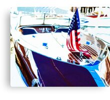 Docked Classic Wooden Craft Abstract Canvas Print