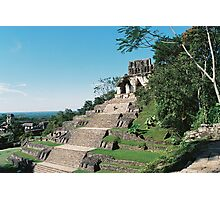 Pyramid in Palenque Photographic Print