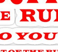 ART OF THE BUFFET TEE SHIRT Sticker