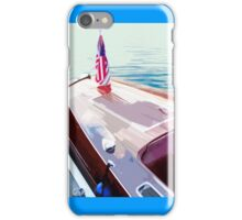 Docked Wooden Boat Abstract iPhone Case/Skin