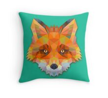Abstract Fox Throw Pillow