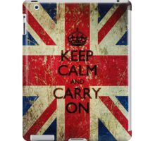 Square Grunge Keep Calm and Carry On Union Jack iPad Case/Skin