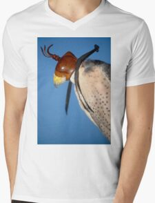 A Falcon With a Cap on its Head Mens V-Neck T-Shirt