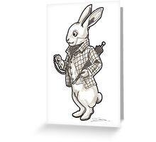 The White Rabbit - Alice in Wonderland Greeting Card