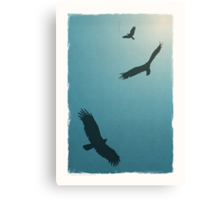 As Free as a Bird | Blue Canvas Print