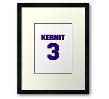 Basketball player Kermit Washington jersey 3 Framed Print