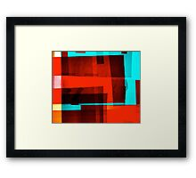 Red Layer Framed Print