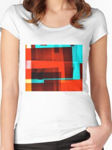 Red Layer Women's Fitted Scoop T-Shirt
