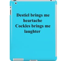 Destiel vs Cockles iPad Case/Skin