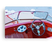 Classic Wooden Boat Abstract Canvas Print