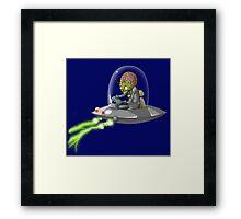 Martian Attack Framed Print