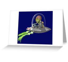 Martian Attack Greeting Card