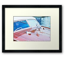 Wooden Boat Abstract Framed Print