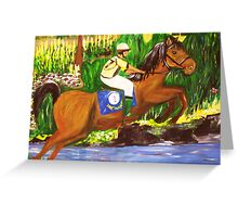 Kentucky Derby Horse by Gretchen Smith Greeting Card