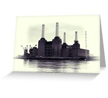 Battersea Power Station Vintage Greeting Card