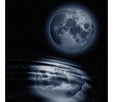 Moon and Water Photographic Print