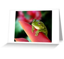"""A Frog's """"Point"""" of View Greeting Card"""