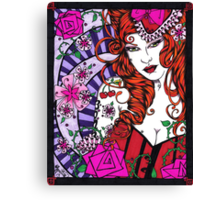 Lil Miss Cherry Bomb Canvas Print